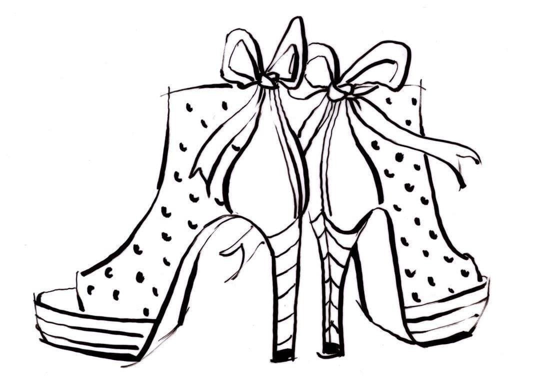 Coloriage Facile Et Moyen Chaussures