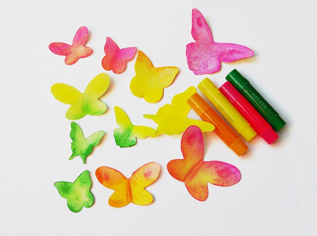 Papillon Dessin Rose Et Vert Urne De Bapteme Theme Papillons