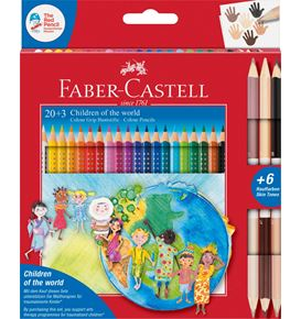 Faber-Castell - Colour Grip Enfants du Monde 20+3