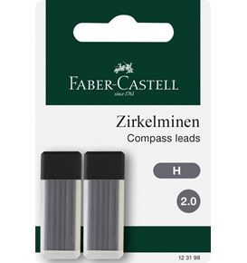 Faber-Castell - 2x 6 mines compas 2mm H