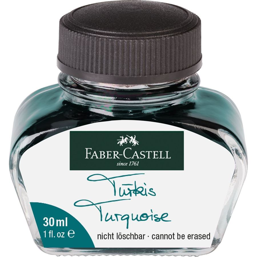 Faber-Castell - Flacon d'encre turquoise 30 ml