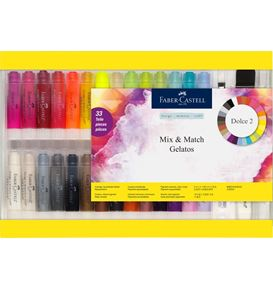 Faber-Castell - Craies aquarellables Gelatos coffret cadeau, 33 piéces set