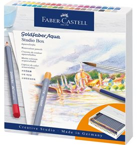 Faber-Castell - Crayon aquarellable Goldfaber Aqua, studio box