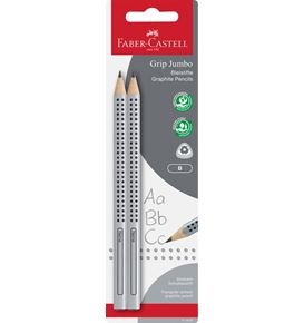 Faber-Castell - 2 Crayons graphite Jumbo Grip B