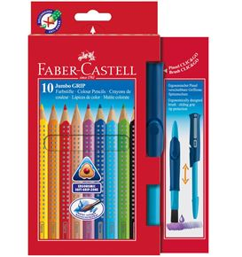 Faber-Castell - Jumbo Grip 10 + Clic&Go pinceau 10