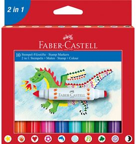 Faber-Castell - Tampons Marqueur boîte x 10