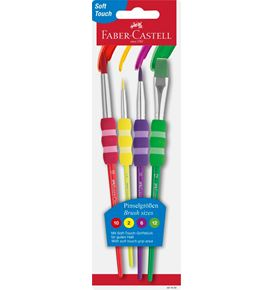 Faber-Castell - 4 pinceaux soft touch