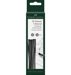 Faber-Castell - Fusain naturel Pitt 3-6 mm, blister