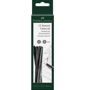 Faber-Castell - Fusain naturel Pitt 5-8 mm, blister