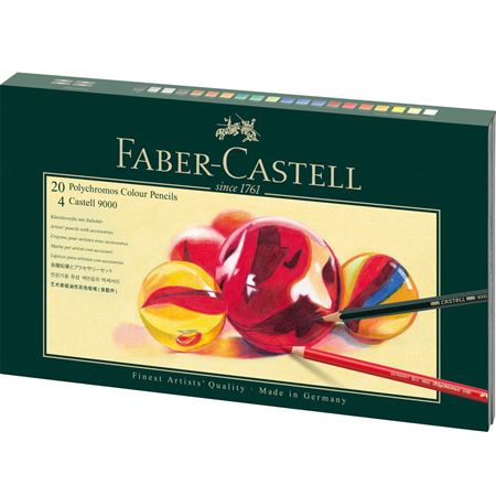 Faber-Castell - Coffret cadeau Mixed Media Polychromos + Castell 9000